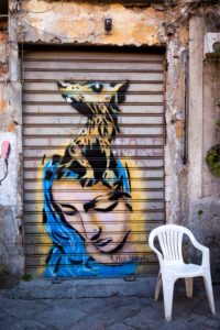 Graffiti, street art, Palermo, Sicily, Italy