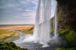 Iceland, Seljalandsfoss, located on the golden circle of the municipality of Rangárþing