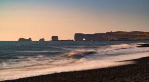 Iceland, Reynisfjara, black sand beach, coast