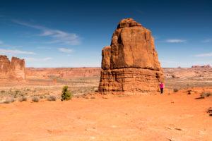 USA, Utah, Felsformation im Arches Nationalpark