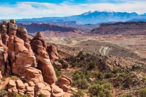 USA, Utah, Arches Nationalpark, Felsformationen,