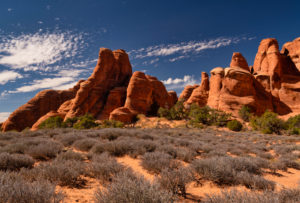 USA, Utah, Arches Nationalpark, Devils Garten, Felsformationen,