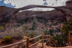 USA, Utah, Arches National Park, Devils Garden, rock formations, trail