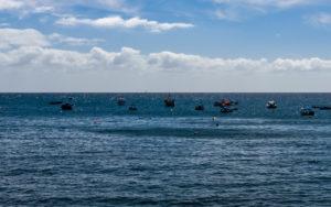 View from Câmara de Lobos, a fishing village west of Funchal, Maderia, Portugal