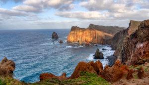 auf dem Wanderweg Ponta de São Lourenço, Halbinsel auf Maderia, Portugal