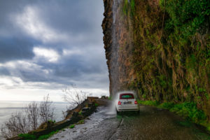 natürlicher Wasserfall, Anjos, Ponta do Sol, Madeira, Portugal