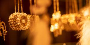 Weihnachtschmuck, Sterne in Gold