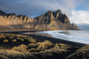 Iceland, Iceland in autumn, view of Vestrahorn massif