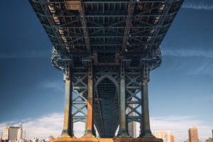 USA, New York, Brooklyn, Sicht auf Manhattan Bridge