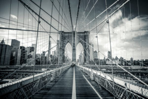 Brooklyn Bridge in Manhattan, New York, USA
