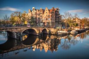 Herbststimmung in Amsterdam, Niederlande