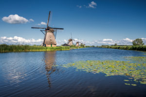 The windmills of Kinderdijk, Netherlands