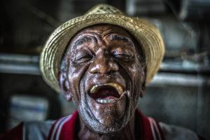 Cuba, Havanna, happy old man laughing, face of Joy,