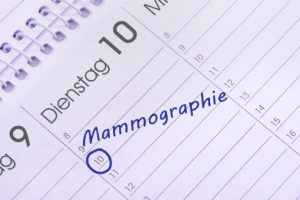 Mammography date in the calendar