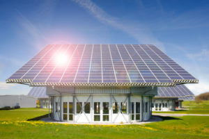 Solar roof for alternative power generation with sunbeams