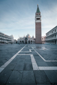 Early in the morning on St. Mark's Square, Venice, Italy
