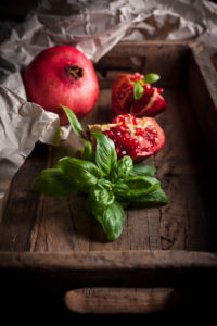Pomegranate and basil