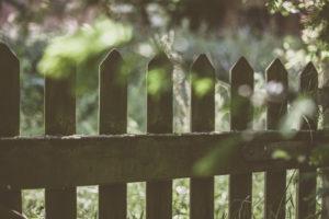 Garden fence, detail