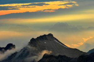 Light mood in the high mountains, recorded from the Birkkarspitze