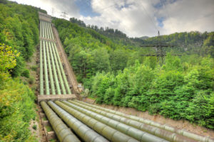 pipes of the hydroelectric power plant Walchensee