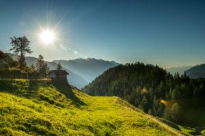 Morning mood on the Gütenbergalm in Tyrol