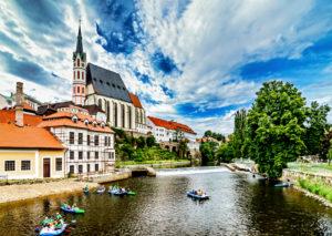 Tschechien, Böhmen, Krumau an der Moldau