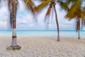 Beach Scenery on Isla Mujeres,Yucatan Peninsula,Caribbean Sea,Mexico