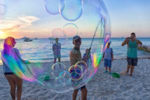 Beach Scenery on Isla Mujeres, Yucatan Peninsula, Caribbean Sea, Mexico