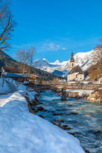 Ramsau near Berchtesgaden in winter, Berchtesgadener Land district, Upper Bavaria, Bavaria, Germany