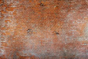 terracotta brick wall, Veneto, Italy