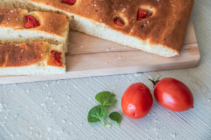 homemade Apulian focaccia, typical Italian food