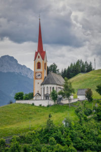 parish churc of Prato alla Drava-Winnebach in the municipality of  San Candido-Innichen, Val Pusteria-Pustertal, Bolzano, South Tyrol, Italy