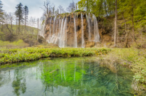 Waterfall, Plitvice Lakes National Park, Plitvice Jezera, Lika-Senj County, Karlovac County, Croatia