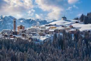 winter view of the village and municipality of Danta di Cadore, Cadore, Belluno, Veneto, Italy