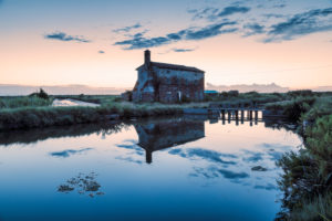 old abandoned rural building in the lagoon of lio piccolo, cavallino treporti, venice, veneto, italy