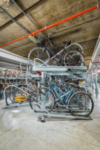 Underground bicycle garage near the Florence train station, Tuscany, Italy, Europe