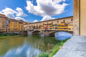 View on the Ponte Vecchio and the Arno river, Florence, Tuscany, Italy