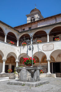 Italy, Veneto, Belluno, Feltre, the basilica sanctuary of the Saints Vittore and Corona, the cloister