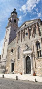 Italy, Veneto, Belluno, Dolomites, the Cathedral or Basilica of San Martino