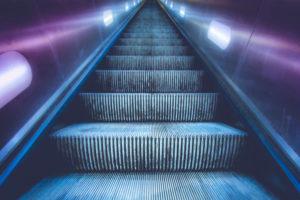 Empty escalator upwards