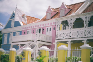 color houses in willemstad, curazao island