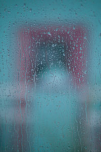 rainy water window
