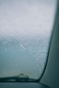 rainy water car window