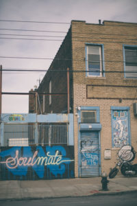 soulmate street art graffiti on Bushwick streets