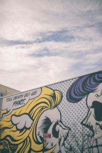 Roy Lichtenstein style street art