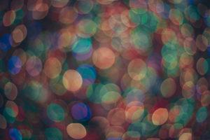 blurry Christmas lights at Rockefeller center