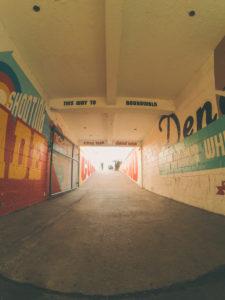 coney island, street art on a path