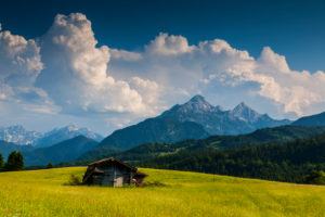 Germany, Bavaria, Alps, Mountains, Buckelwiesen, Mittenwald, Alpenwelt Karwendel