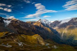 Austria, National Park Hohe Tauern, Salzburger Land, Grossglockner High Alpine Road, View from Edelweissspitze, Autumn Austria