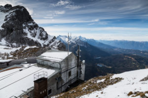 Europe, Germany, Bavaria, Alps, Mountains, Mittenwald, Karwendelbahn - The cable car station